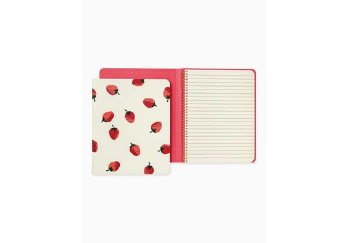 KATE SPADE SPIRAL NOTEBOOK-STRAWBERRY