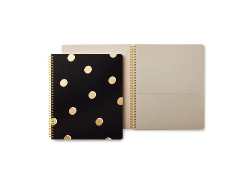 KATE SPADE LARGE SPIRAL NOTE BOOK-SCATTER DOTS