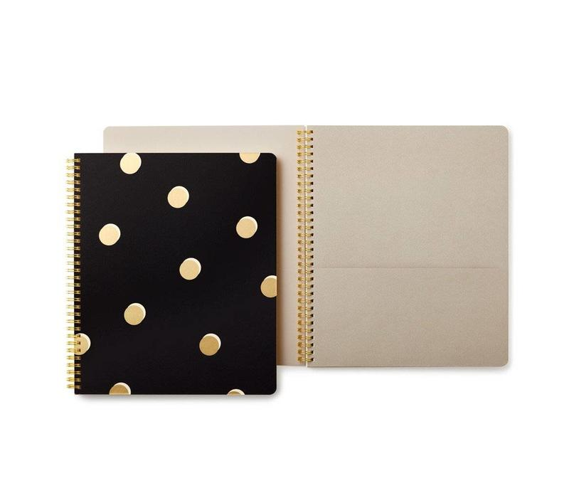 LARGE SPIRAL NOTE BOOK-SCATTER DOTS