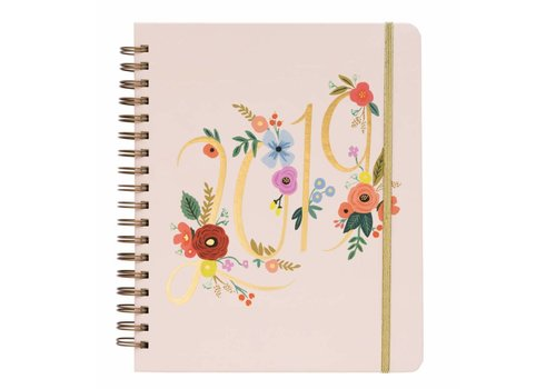 RIFLE PAPER CO AGENDA 2019 BOUQUET SPIRAL