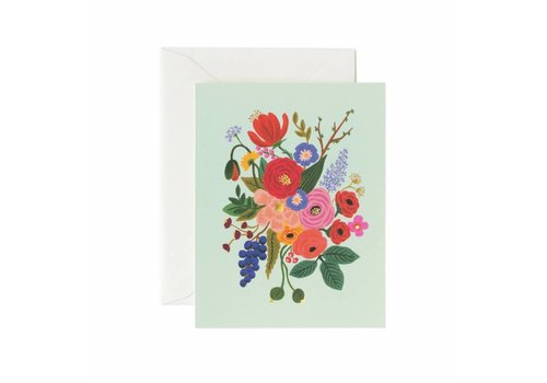 RIFLE PAPER CO CARTE BOUQUET TURQUOISE
