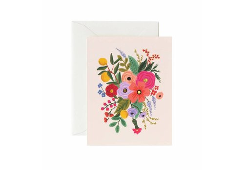 RIFLE PAPER CO CARTE BOUQUET ROSE