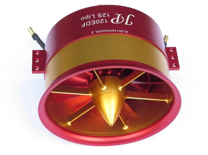 high thrust 120mm edf w 12s motor jp hobby falcon hobby supply. Black Bedroom Furniture Sets. Home Design Ideas