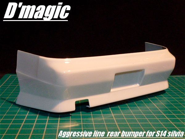 D'Magic DM-03-300 Aggessive Line Rear Bumper for the Yokomo S14 by D'Magic