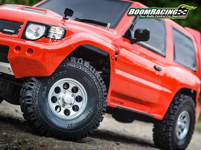 Boom Racing BRW780906GM 1.55 Terra Classic 8-Hole Aluminum Beadlock Wheels w/ 3mm Wideners (2) Gun Metal by Boom Racing