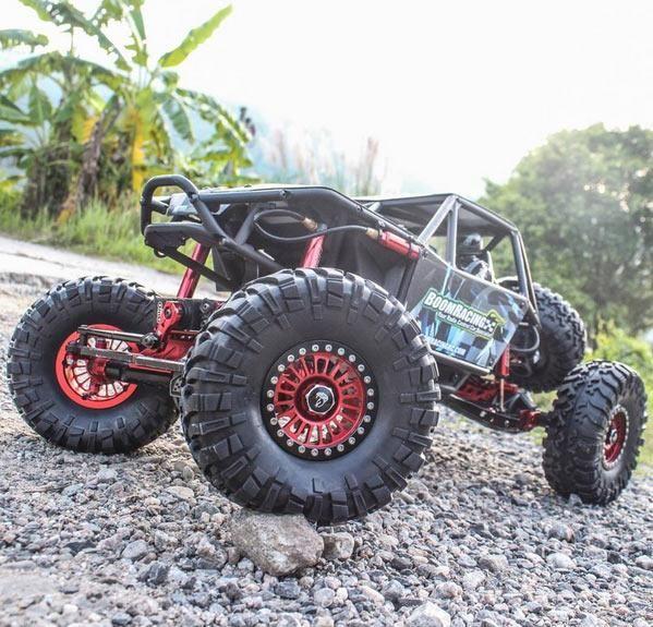 Boom Racing BRW780905R Venomous KRAIT 2.2 Aluminum Beadlock Wheels With 8mm Wideners (2) Red by Boom Racing