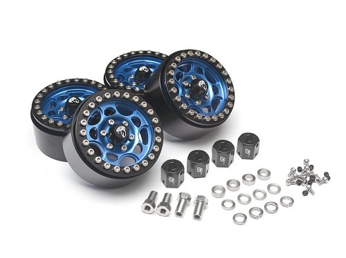 Boom Racing BRW780901B Sandstorm KRAIT 1.9 Aluminum Beadlock Wheels with 8mm Wideners (4) Blue by Boom Racing