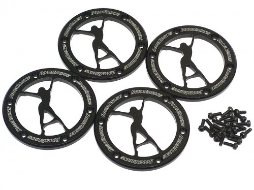 Boom Racing BRW780900B-10BK KRAIT VEGAS Aluminum 1.9 Beadlock Ring (4) Black by Boom Racing