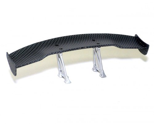 Boom Racing BRHY00481 RC Drift 1/10th Scale CF Rear Spoiler Wing W/ Stands (#00481) by Boom Racing