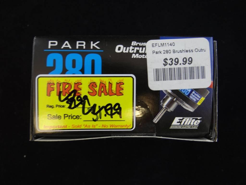 E-flite Smoke Damaged EFLM1140 E-flite Park 280 Brushless Outrunner M (EFLM1140)