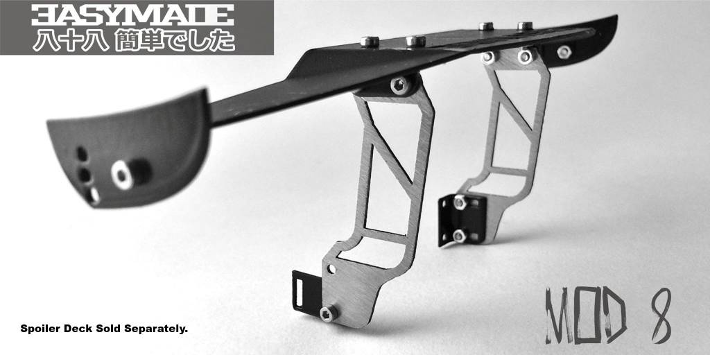 Easy88Made 1/10 Scale RC Drift Spoiler Mount #8 by Easy88Made