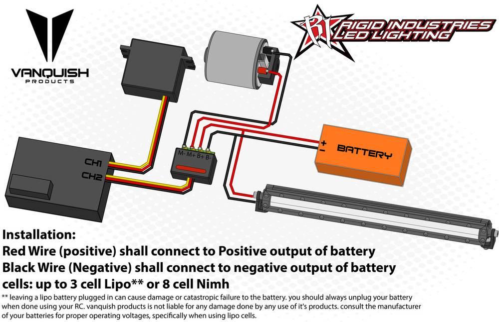 Vanquish Vps06755 Rigid Industries Led Light Bar Black By: Rigid Led Wiring Diagram At Shintaries.co