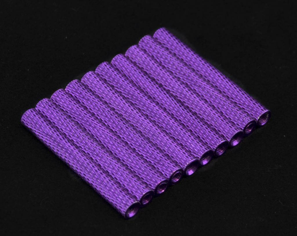 bangood 10Pcs M3 40mm Knurled Standoff Aluminum Alloy Anodized Spacer
