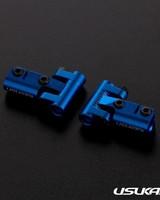 Usukani US88144-YB V2 Front upper arm set/0-5mm Adjustable Caster/2pcs-2.5mm (YOKOMO BLUE) by Usukani