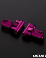 Usukani US88144-PK V2 Front upper arm set/0-5mm Adjustable Caster/2pcs-2.5mm (PINK) by Usukani