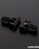 Usukani US88144-BK V2 Front upper arm set/0-5mm Adjustable Caster/2pcs-2.5mm (BLACK) by Usukani