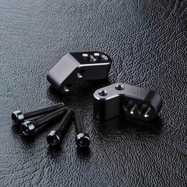 MST MXSPD820123-2BK ATK Alum. adjusting base (black) (2) by MST 820123-2BK