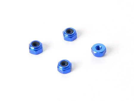 Atomic ATMDAR-182-BO 2MM BLUE ALLOY LOCK NUTS (PRO VERSION) - ATOMIC DAR-182-BO