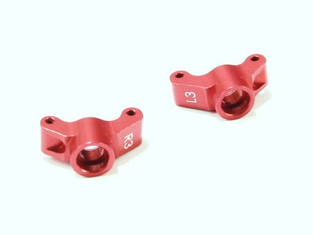Atomic ATMDMST007 LOSI MICRO SCT/RALLY ALLOY REAR HUB SET (3*) (ORANGE) - ATOMIC DMST007