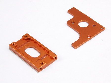 Atomic ATMDMST009 LOSI MICRO SCT/RALLY ALLOY MOTOR MOUNT SET (ORANGE) - ATOMIC DMST009