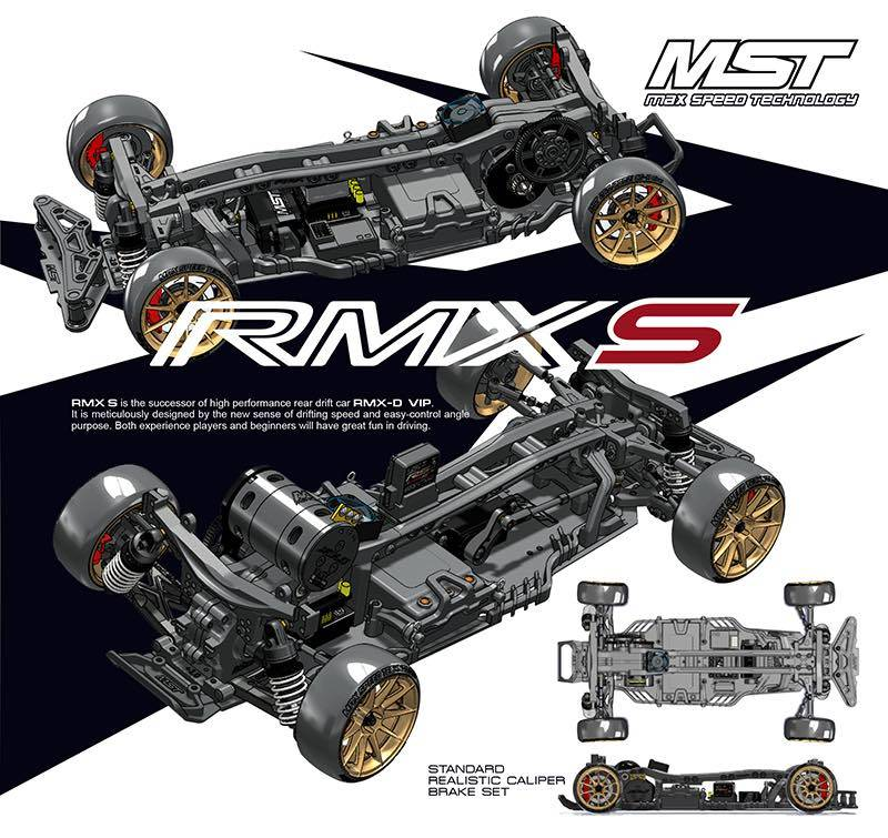 MST MXPSD532161 RMX 2.0 S 1/10 scale RWD EP Drift Car KIT by MST