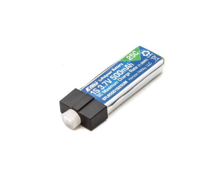 E-flite EFLB5001S25UM 500mAh 1S 3.7V 25C LiPo High Current UMX Connector E-Flite