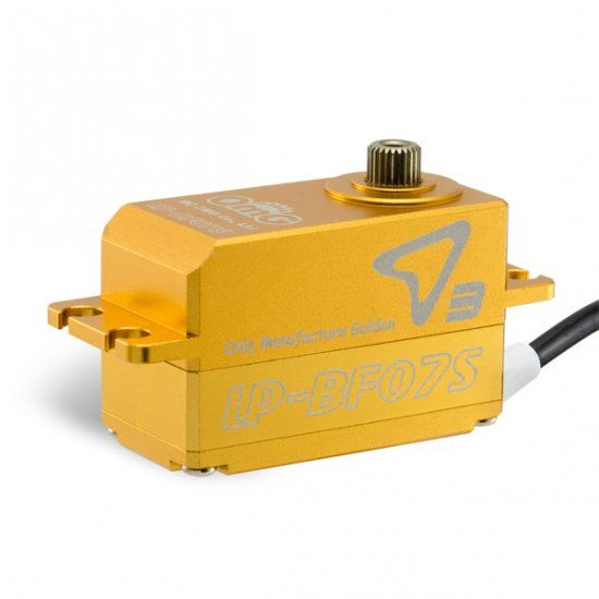 OMG OMGD3-LP-BF07S-FG Low-Pro Full Metal Brushless Digital Servo (Full Gold) - RC OMG D3-LP-BF07S-FG