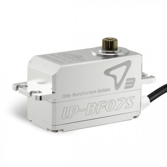 OMG OMGD3-LP-BF07S-FS Low-Pro Full Metal Brushless Digital Servo (Full Silver) - RC OMG D3-LP-BF07S-FS