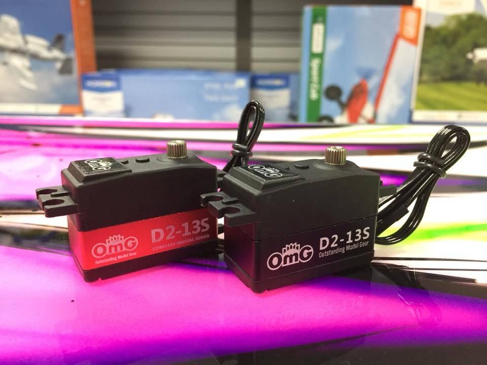 OMG OMGD2-13SRD Low-Pro Digital Coreless Digital Hight Speed Servo Red by OMG D2-13S
