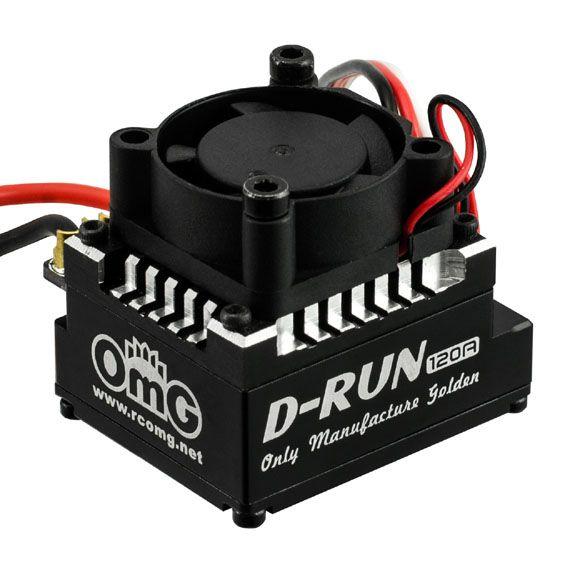 OMG OMGDR120AX1/BK 120 A Sensored Brushless ESC Black by OMG POLARIS-DR120AX1/BK
