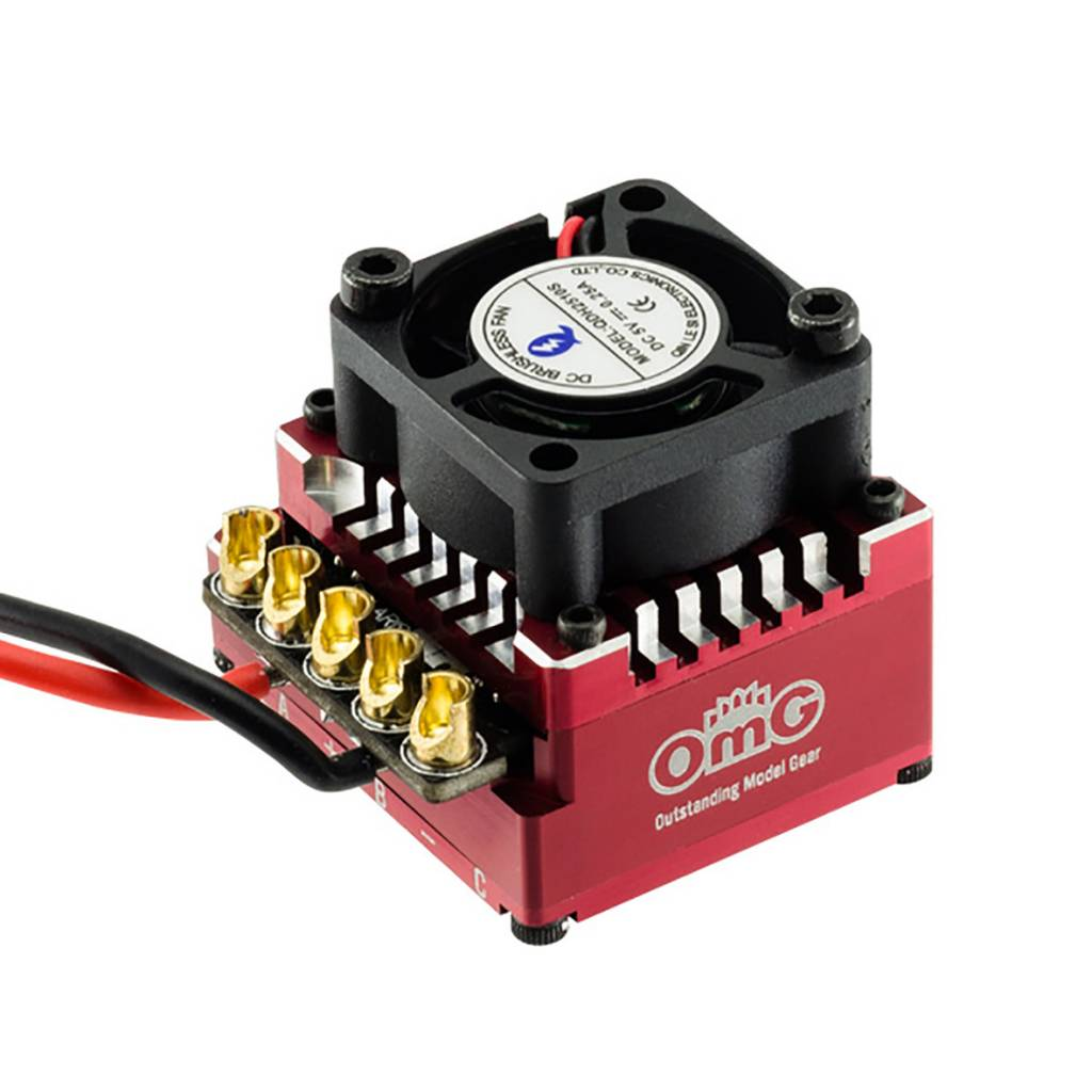 OMG OMGDR120AX1/RD 120 A Sensored Brushless ESC Red by OMG POLARIS-DR120AX1/RD