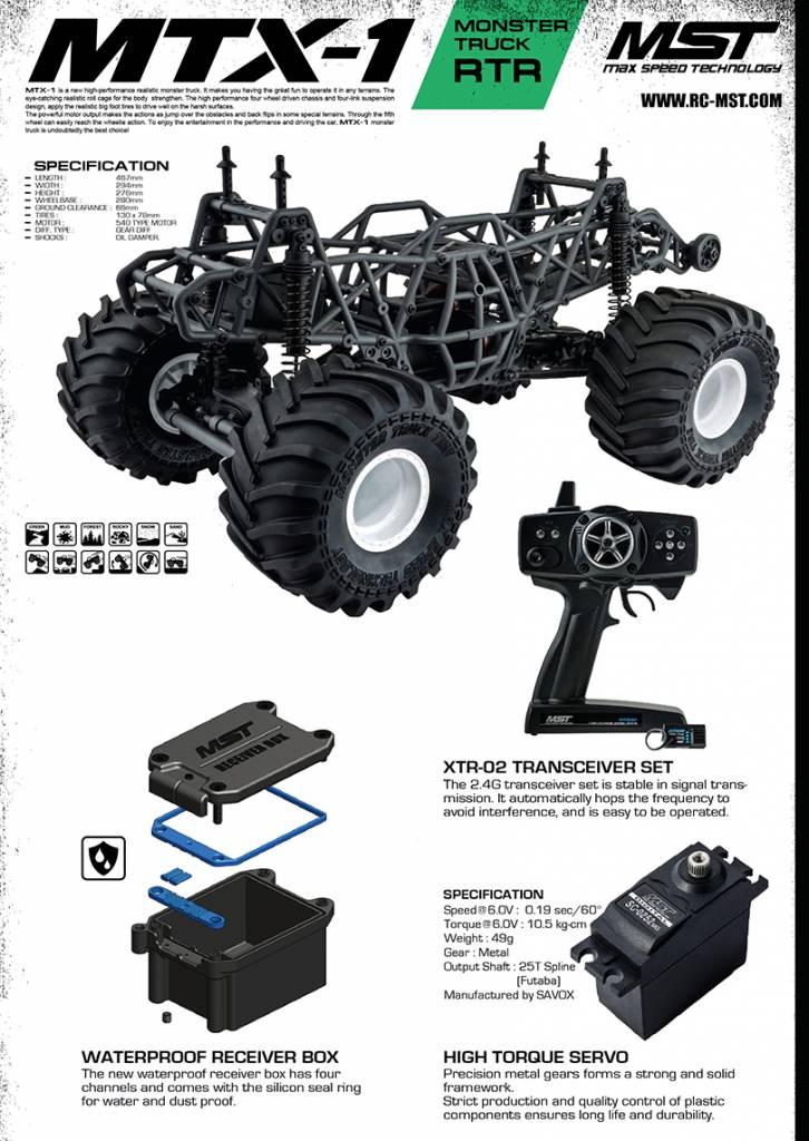 MST MXPSD533601 MTX-1 RTR Monster truck (2.4G) (brushless) C-10 by MST
