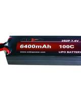 Onbo OP64001002S2PCAR 6400mAh 100C 2S 5mm bullets (hard case) by ONBO