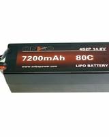 Onbo OP7200804S2PCAR 7200mAh 80C 4S 5mm bullets (hard case) by ONBO