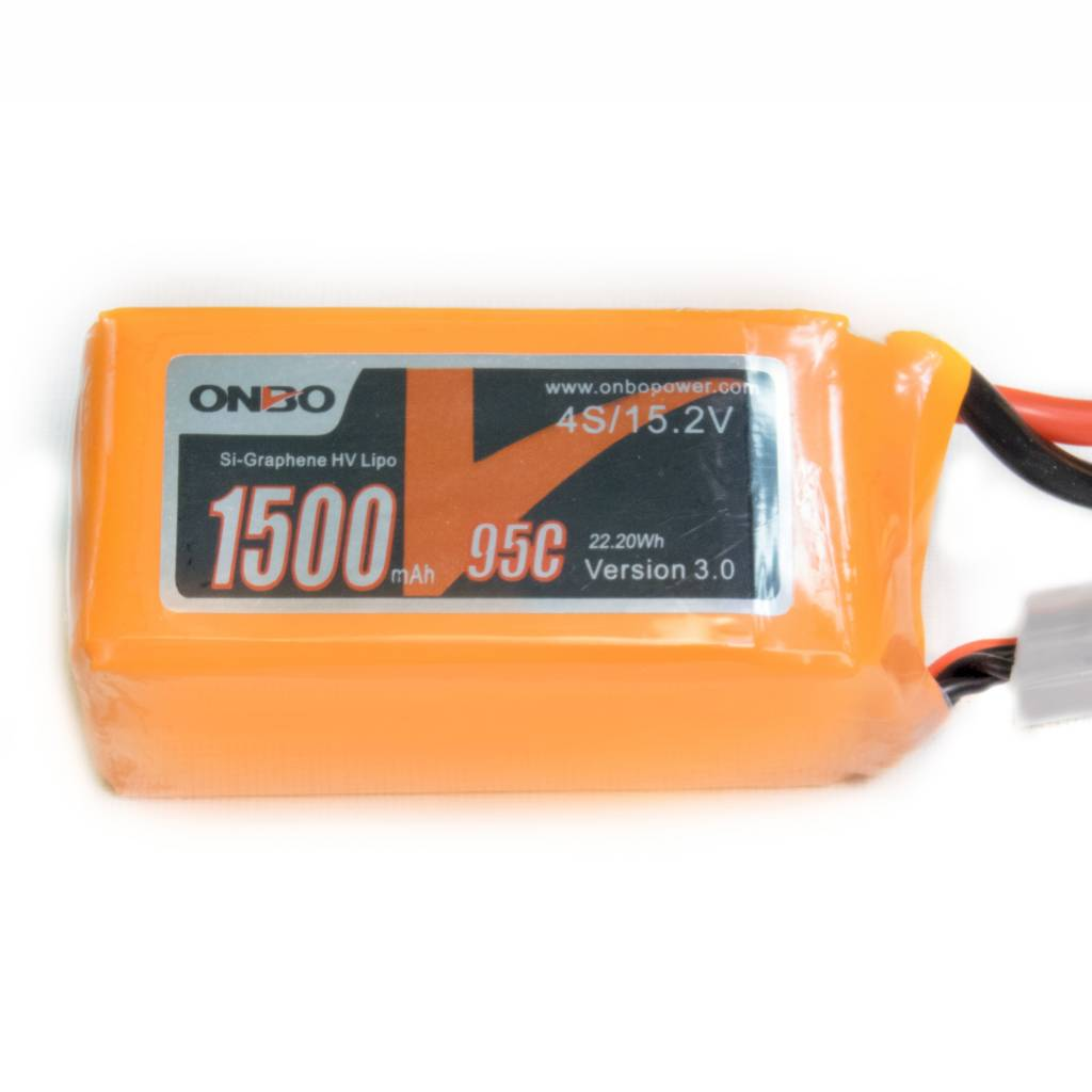 Onbo OP1500954SSIGRHV 1500mAh 4S 15.2V 95C SI-Graphene HV Lipo Battery by Onbo