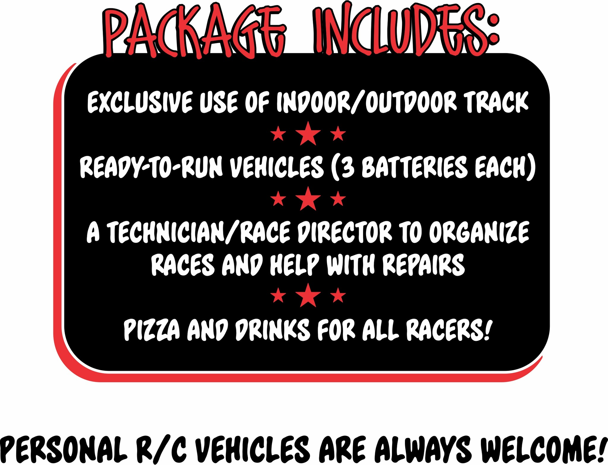 Birthday & Event Package at Falcon Hobby