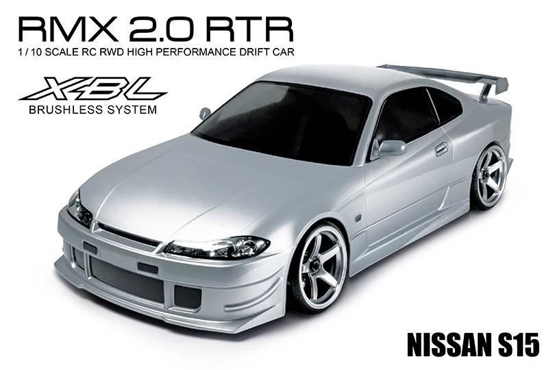 MST MXSPD533705S RMX 2.0 1/10 Scale 2WD RTR EP Drift Car (brushless)  S15 (Silver) by MST 533705S