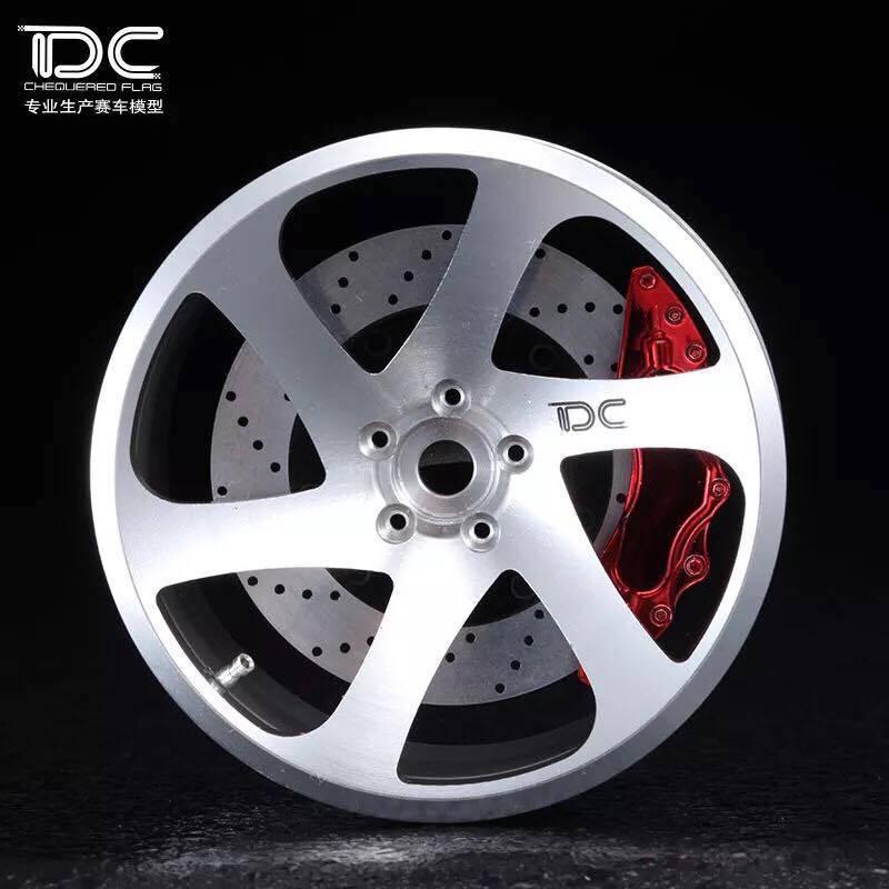 Team DC DC-50502 0.06 Aluminum Drift Wheel +9 Offset (4pcs) Silver by Team DC
