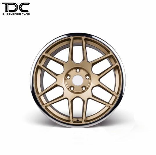 Team DC DC-9038 Aluminum Drift Wheel Offset +6 Gold Hub For EP 1:10 RC Drift Cars (4PCS) by Team DC
