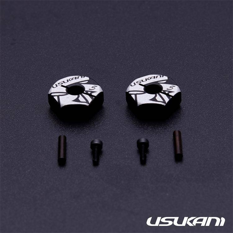 Usukani US88147 7075 AL Clamping Wheel Hub/2pcs (5.0mm) by Usukani