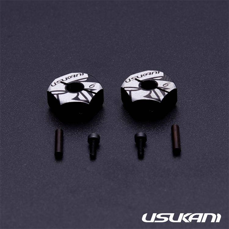 Usukani US88148 7075 AL Clamping Wheel Hub/2pcs (6.0mm) by Usukani