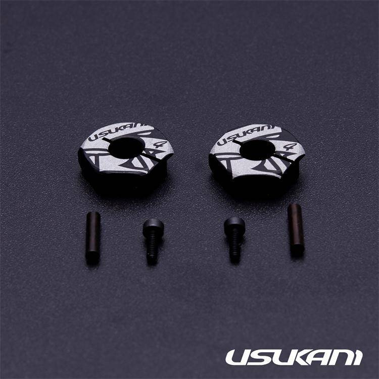 Usukani US88146 7075 AL Clamping Wheel Hub/2pcs (4.0mm) by Usukani