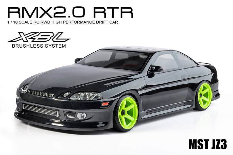 MST MXSPD533707BK RMX 2.0 1/10 Scale 2WD RTR EP Drift Car (brushless) JZ3 (soarer) (black) by MST 533707BK