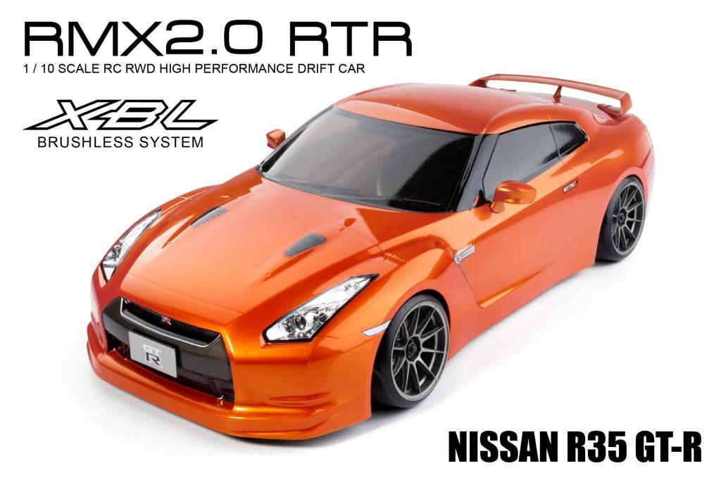 MST MXSPD533702O RMX 2.0 1/10 Scale 2WD RTR EP Drift Car (brushless) R35 GT-R (orange) by MST 533702O