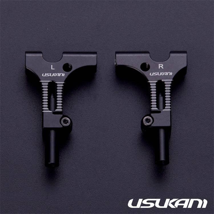Usukani US88193BK AR Ver3.0 Front lower arm set/2pcs-3.0MM (BLACK) by Usukani