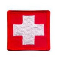 Rothco Patch MED White Cross/Red