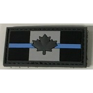 THIN BLUE LINE CANADA FLAG PATCH (PVC) 1.5 X 3