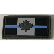 THIN BLUE LINE CANADA FLAG PATCH (PVC) 1 x 2