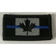 THIN BLUE LINE CANADA FLAG PATCH (EMBROIDER) 1 X 2