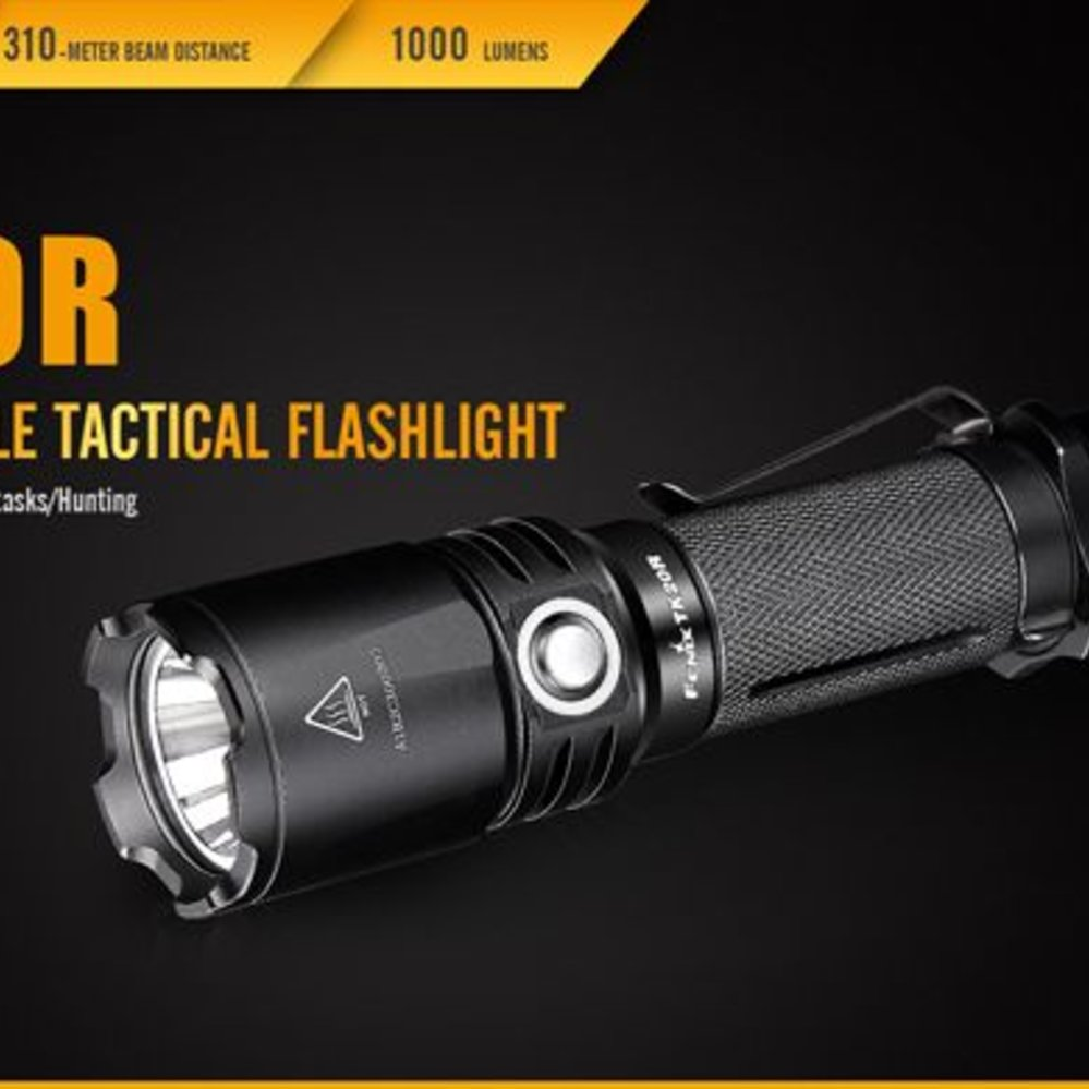Joint Force Tactical: Fenix TK20R Rechargeable Flashlight ...